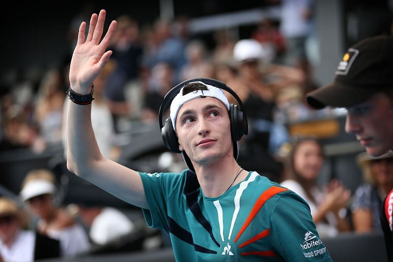Humbert won his first ATP title in Auckland at the start of the year.