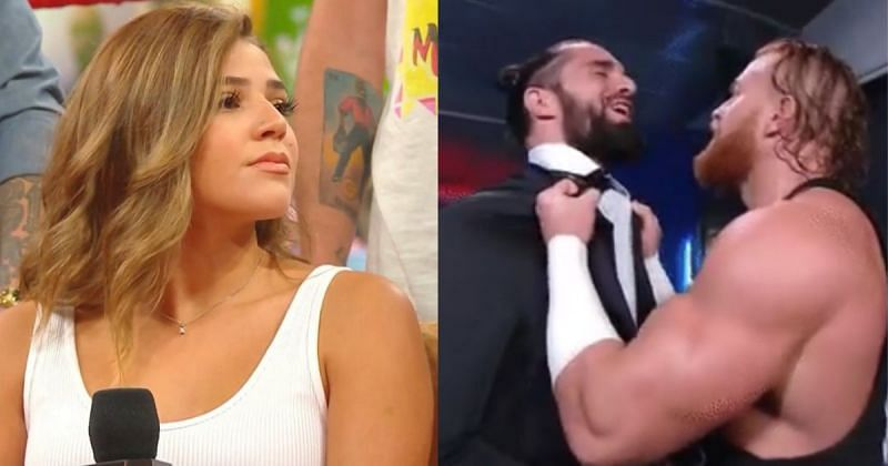 Aalyah Mysterio, Seth Rollins and Murphy.