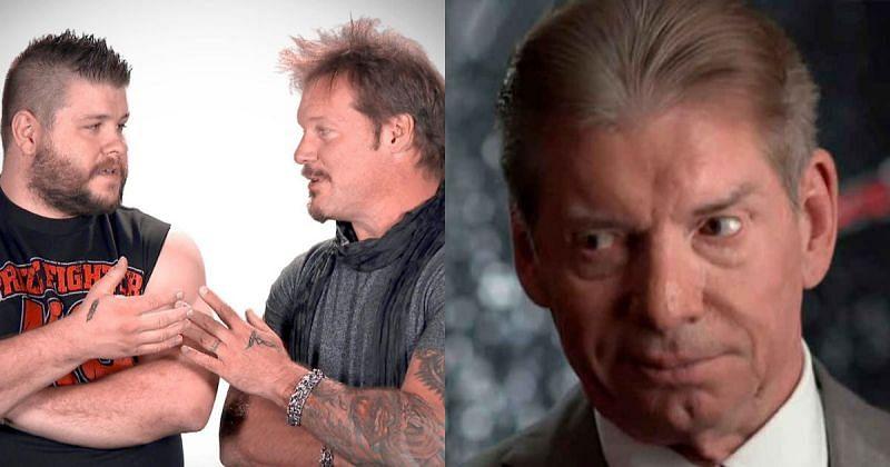 Kevin Owens, Chris Jericho, and Vince McMahon.