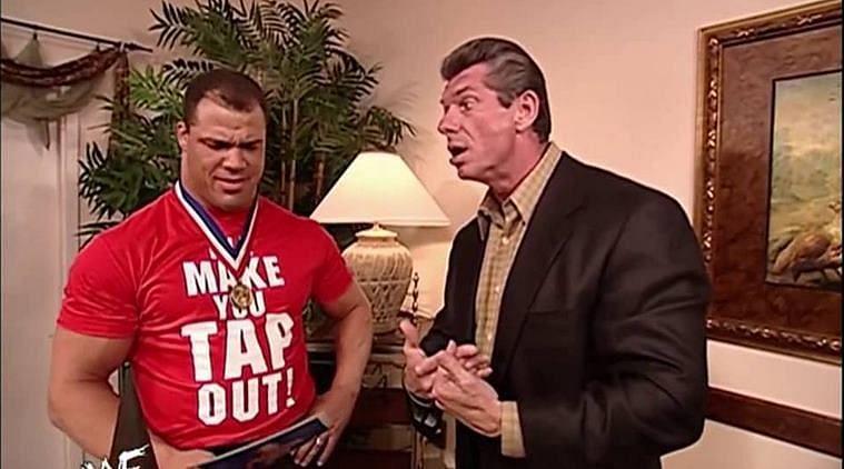 Kurt Angle and Vince McMahon were wrestling on a plane