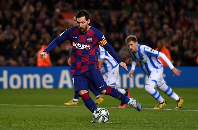 Lionel Messi has scored a little over 10% of his La Liga goals from the penalty spot.