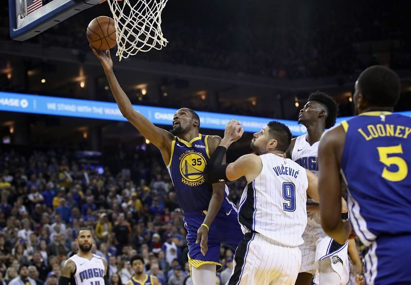 Vucevic could replace Durant as the fourth star in the GSW team