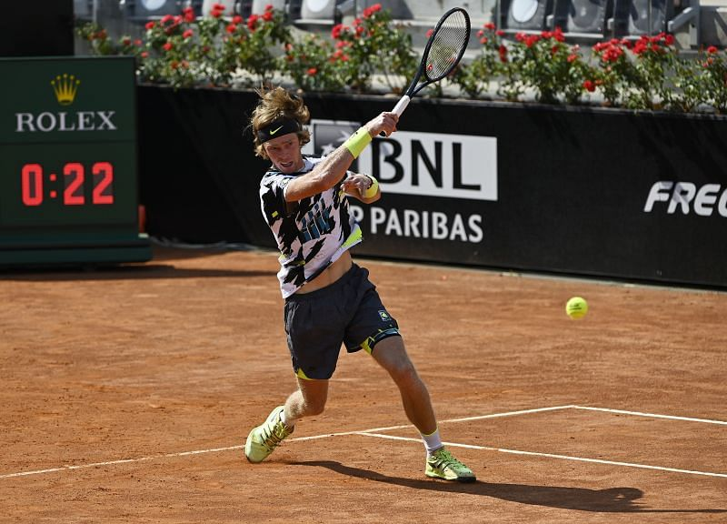 Andrey Rublev of Russia during the Internazionali BNL d
