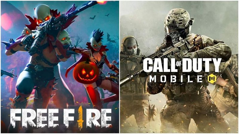 Top 5 alternatives to PUBG mobile for iOS.(Image credits: Free Fire Left, Call of Duty mobile Right)
