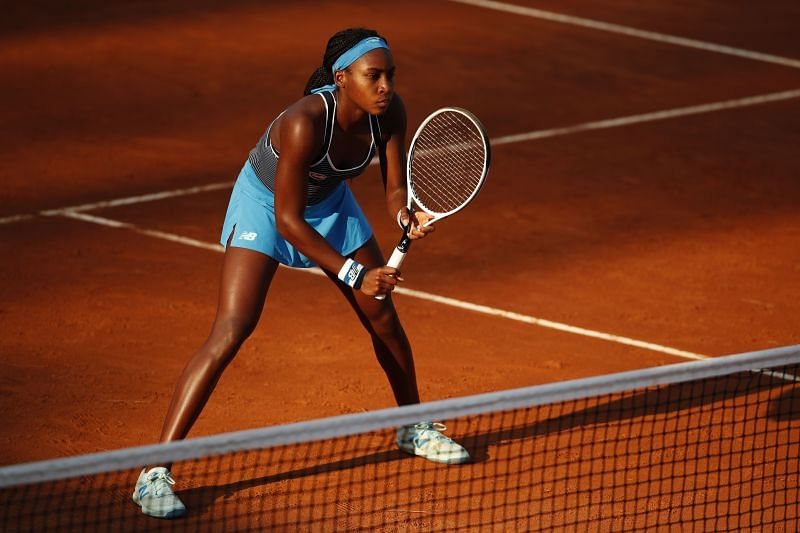 Coco Gauff is playing her first senior tournament on clay