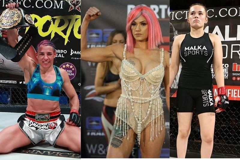 Vanessa Porto, who has signed with Bellator, Pearl Gonzales, and Erin Blanchfield