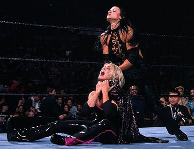 Victoria faced Trish Stratus for the WWE Women