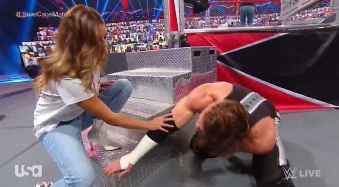 Seth Rollins attacks Murphy following Steel Cage Match