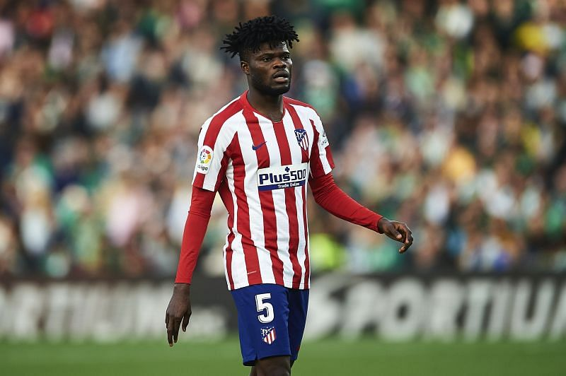 Thomas Teye Partey of Club Atletico de Madrid has been linked with a move to Arsenal
