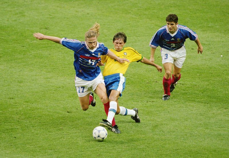 Emmanuel Petit in action during the 1998 FIFA World Cup final