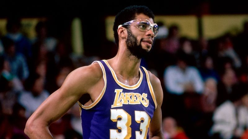 Kareem Abdul-Jabbar in his early days for the LA Lakers