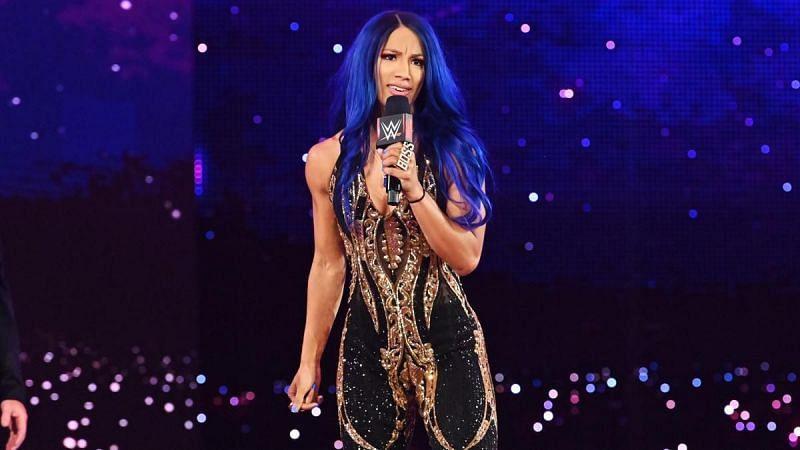 Sasha Banks returned to WWE with blue hair