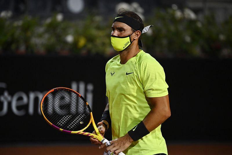 Rafael Nadal, at the Italian Open last week