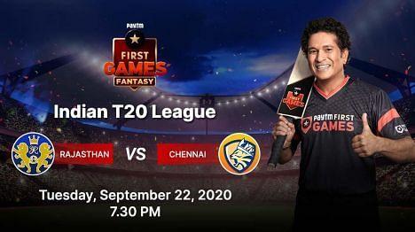 Rajasthan v Chennai Paytm Fantasy Predictions