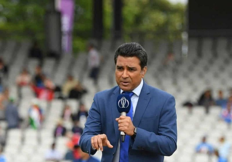 Sanjay Manjrekar broadcasting during the 2019 World Cup in England (Image Credits: 100MB)