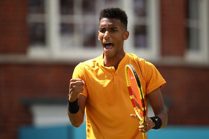 Felix Auger-Aliassime at the 2019 Fever-Tree Championships