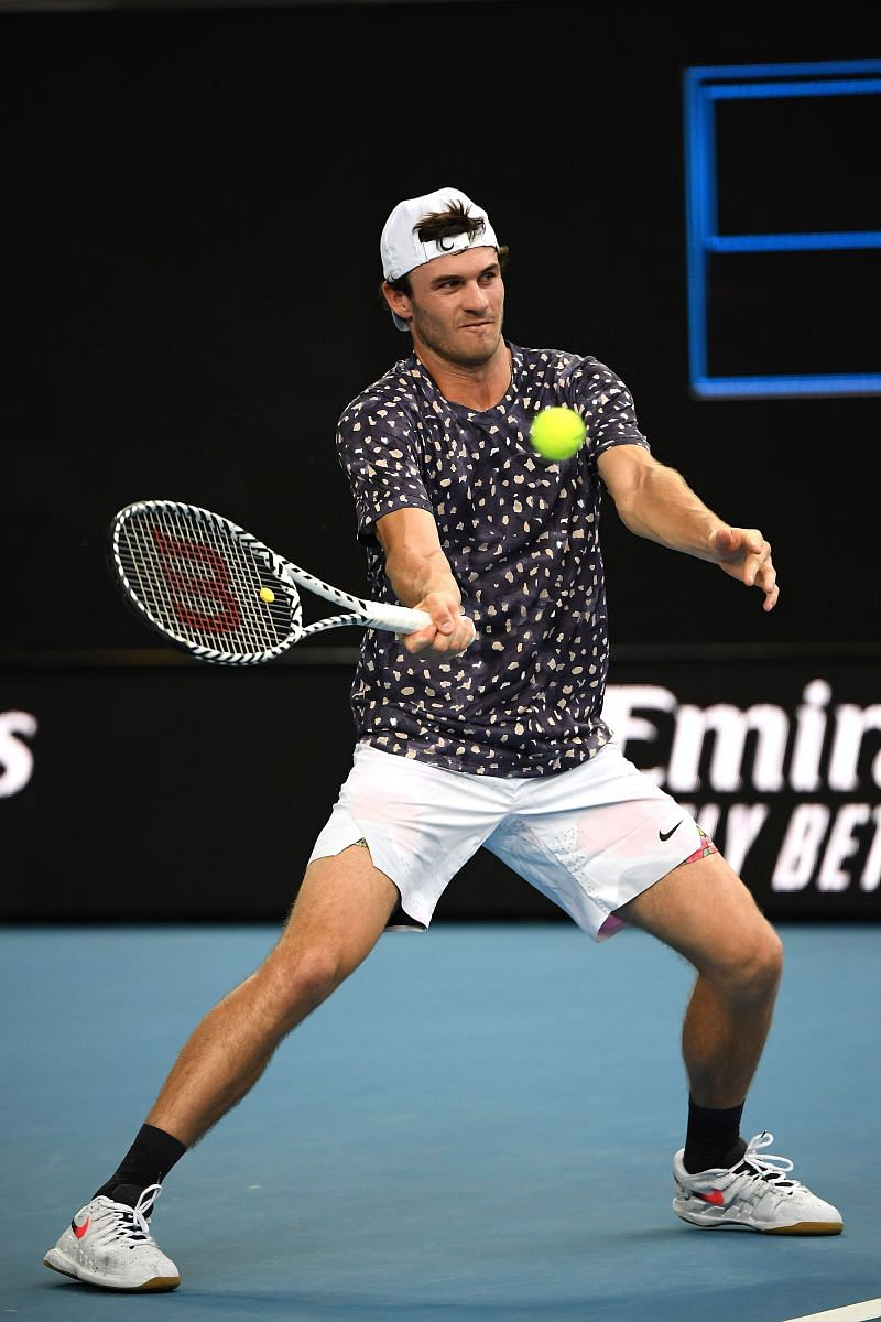 Tommy Paul during his win over Grigor Dimitrov in Melbourne, Australia.