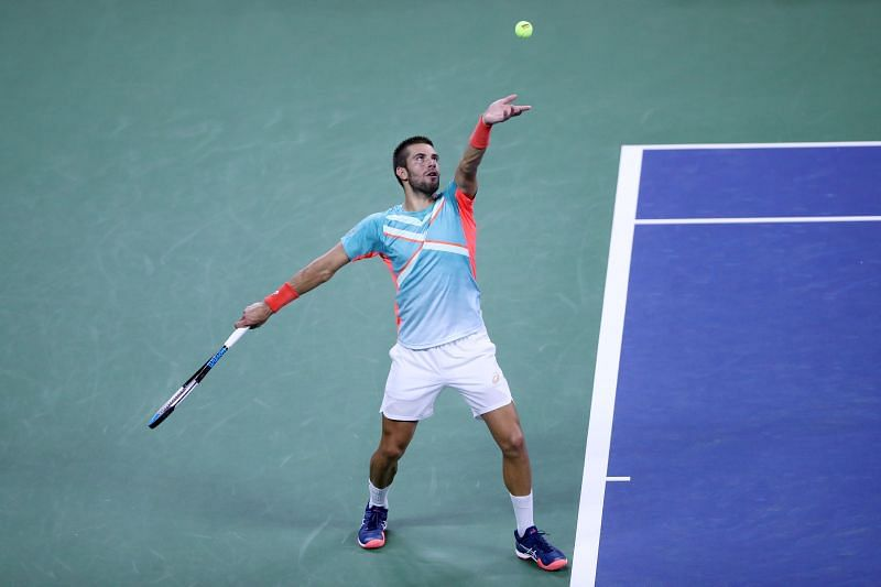 Borna Coric staged a huge upset in the third round, knocking out the No. 4 seed Stefanos Tsitsipas