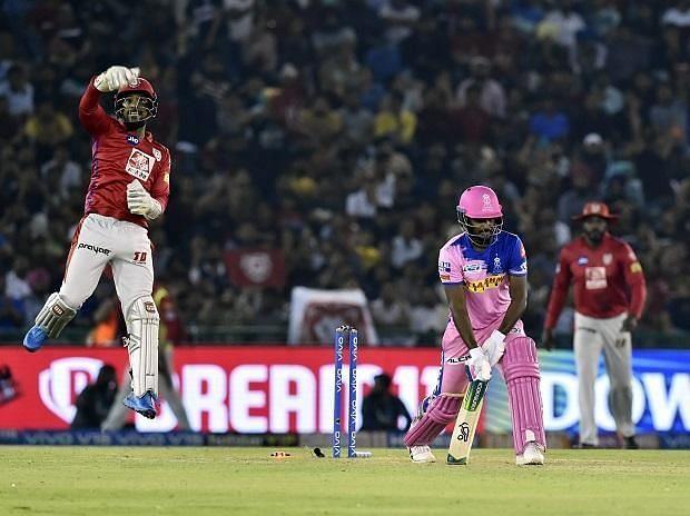 राजस्थान रॉयल्स  vs किंग्स इलेवन पंजाब