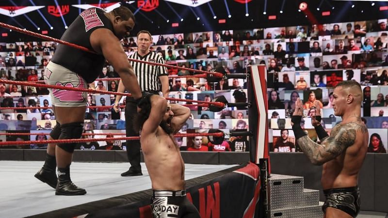 The main event of RAW last week.