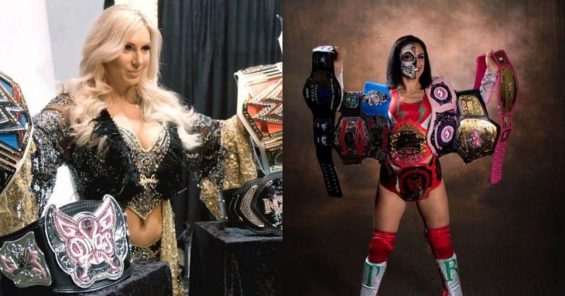 Charlotte Flair and Thunder Rosa.