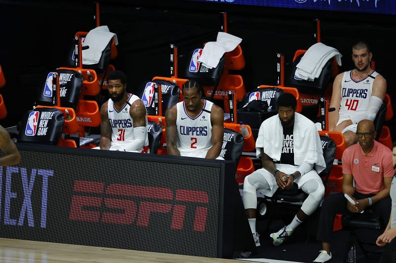 Disappointed Clippers players