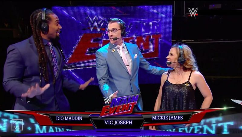Mickie James appeared on commentary on WWE Main Event in 2019