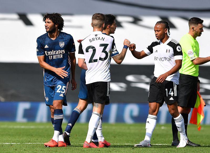 Fulham struggled against Arsenal