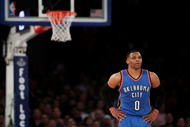 Westbrook could be made available by the Houston Rockets.