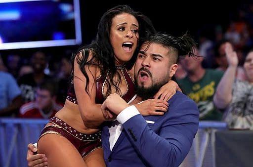 Zelina Vega and Andrade in WWE