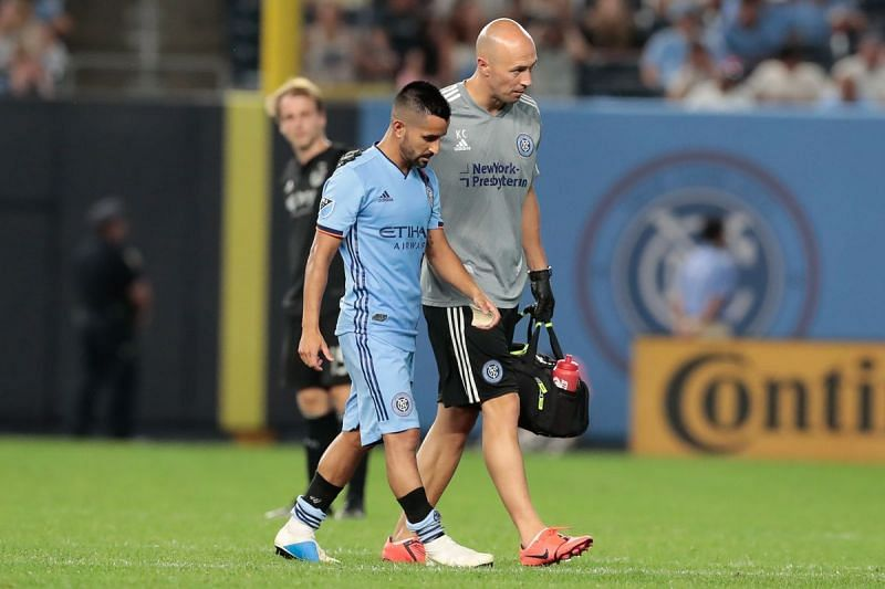 Influential playmaker Maxi Moralez picked up a knee injury in New York City FC
