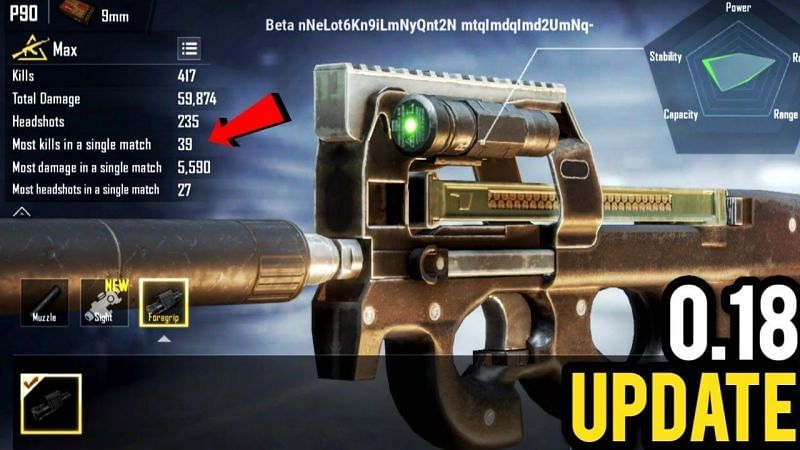 PUBG Mobile P90 map location, damage, and more (Image credits: Rey LAGARTO YT)