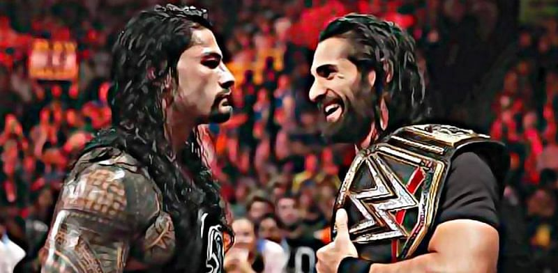 Roman Reigns and Seth Rollins in WWE