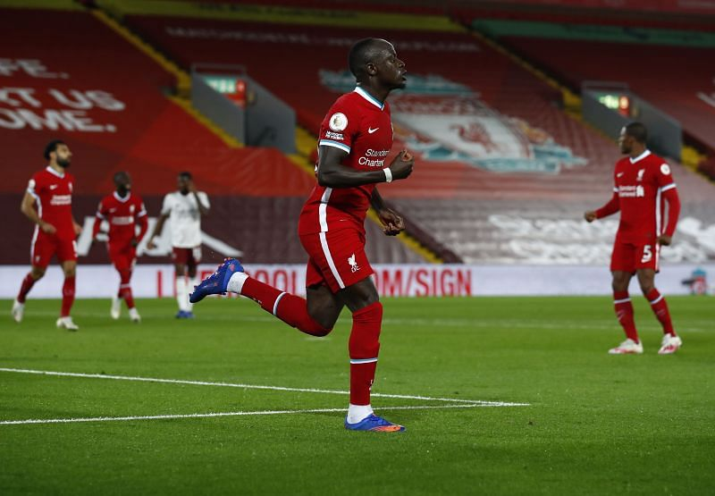 Sadio Mane scored the equaliser for Liverpool early in the game