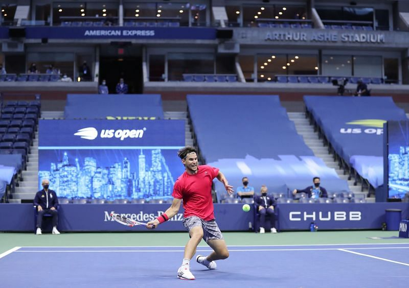 Dominic Thiem at the US Open in New York.