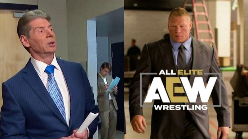 Vince McMahon and Brock Lesnar.