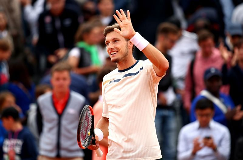 Pablo Carreno Busta of Spain at the 2019 French Open at Roland Garros