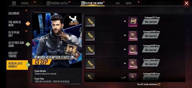 Free Fire: How to use Golden Magazine to claim the Jai character bundle