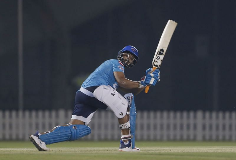 Rishabh Pant was troubled by the pace of Anrich Nortje [PC: DC Twitter]