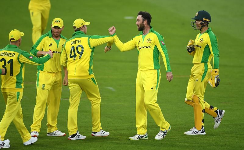 Glenn Maxwell picked up a couple of wickets in the first T20I
