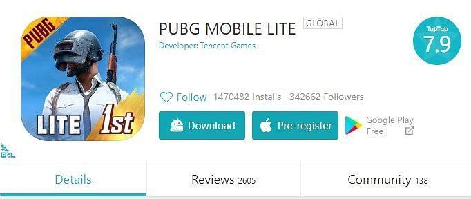 PUBG Mobile lite on TapTap