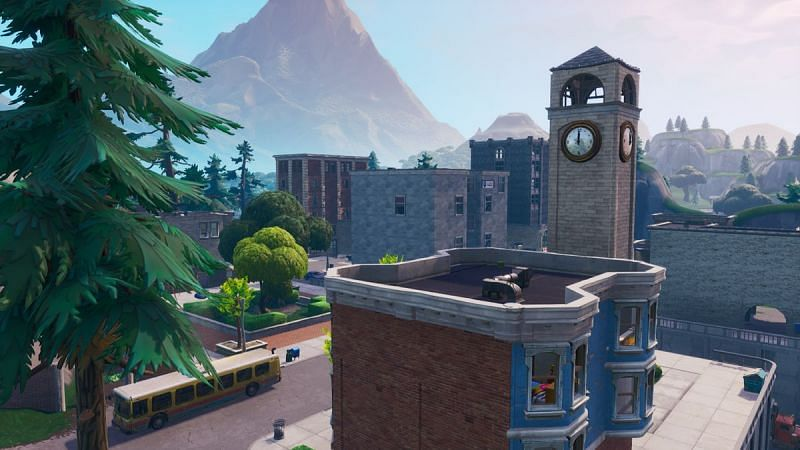 Tilted Towers was one of the sweatiest drop locations in Fortnite (Image credits: Fortnite Fandom)