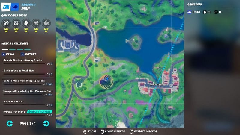 Exact in-game location of Panther