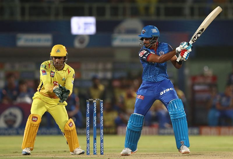 Shreyas Iyer in action for the Delhi Capitals against Chennai Super Kings during IPL 2019
