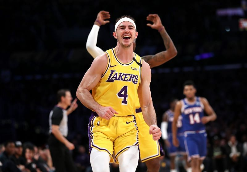 Alex Caruso in action for the LA Lakers