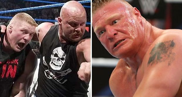 Stone Cold Steve Austin and Brock Lesnar
