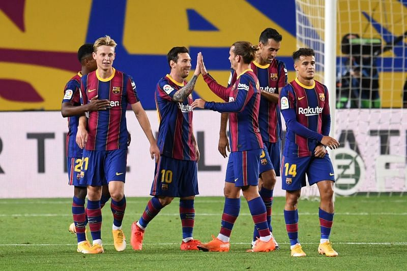 Barcelona have a few notable absentees