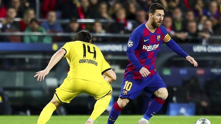 Lionel Messi scored against a record 34th different opponent in the Champions League when he found the back of the net against Borussia Dortmund.
