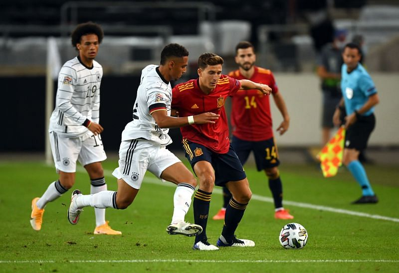 Spain and Germany fought an intriguing tactical battle
