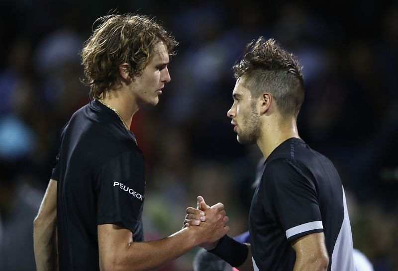 Borna Coric and Alexander Zverev met in the second round of US Open 2017